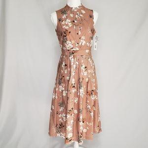 Antonio Melani Floral Connie Button Up Midi Dress